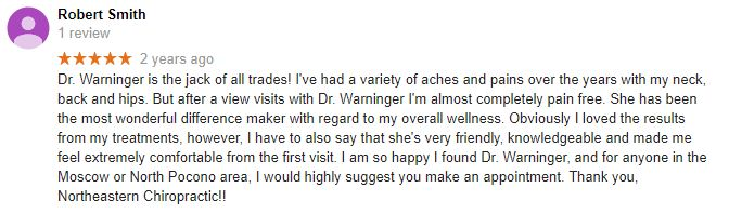 Northeastern Chiropractic Patient Testimonial